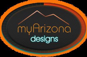 myArizona Designs Logo wth blue 2 oval